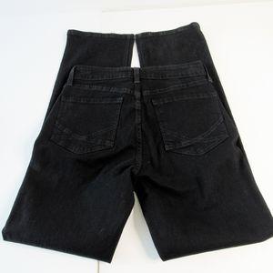 NYDJ Marilyn Straight Black Jeans Size 4P